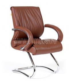 Кресло CH-445 кожа коричневая
