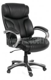 Кресло CH-435, кожа черная