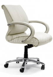 Кресло CH-444, кожа белая