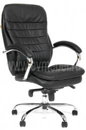 Кресло CH-795 кожа черная