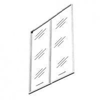 Дверь стеклянная тонированная (для V-71) V-01.2