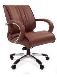 Кресло CH-444, кожа коричневая