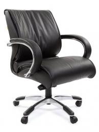 Кресло CH-444, кожа черная